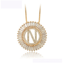 34437  wholesale  xuping fashion necklace 18K gold color letter N luxurious beautiful  necklace