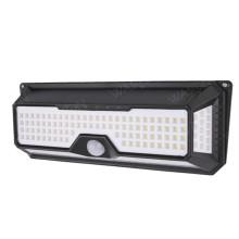 136 LED sensor de parede de segurança solar ao ar livre