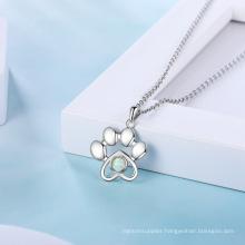 Opal Stone Hot Sale Popular 925 Sterling Silver Jewelry Opal Necklace