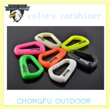 2015 customized fashion trend camping aluminum paracord carabiner