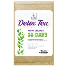 Té de desintoxicación herbario orgánico que adelgaza té de la pérdida del peso del té (día de 28 noche limpia el té)