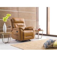 Sofá de salón con sofá moderno de cuero genuino (782)