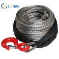 Synthetic electric winch rope for car