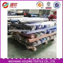 estoque por atacado da fábrica t / c popeline tecido tingido shirting tecido estoque de popeline para vestuário