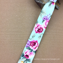 Mens Skinny Necktie with Your Own Brand Cotton Self Tipping Flower Ties