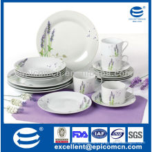 hot selling lavender decoration 20pcs household crockery dinnerware
