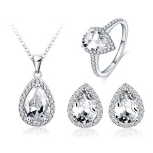Women Teardrop Crystal Bridal Wedding Jewelry Sets (CST0039)