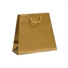 Bolsas de compras de papel trapezoidal de color mate personalizado de lujo