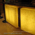 Yellow MMA wall Translucent Resin Panels 0.04% Water Absorption