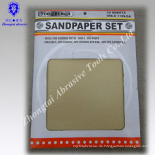 Umweltfreundliches rotes abrasives Papiersandpapier für hölzernes Sandpapier