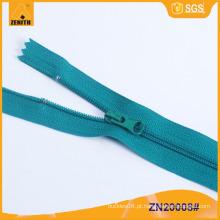 Detectores de metais ecológicos 3 # Zíperes de nylon Close End ZN20008