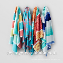 Hot sales New design Velour Stripe Pool Beach Towel BT-386 China Supplier