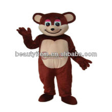best selling cartoon Character Brown Christmas Bear Mascot Costume