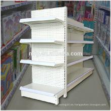 Estantes individuales / dobles de la exhibición del lado Supermercado / Conveniencia al por mayor / almacén de las mercancías de la droga