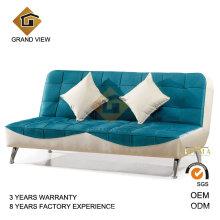 Azul tela tapicería del sofá de la sala (GV-BS-501)