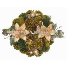 Titulares decorativos de castiçal de cone redondo de pinho