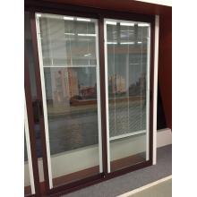 Türen mit einzelnen Glas/eloxiert schwarz/Pulver beschichtete Profil