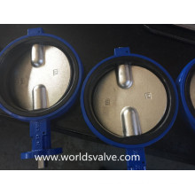 Double Stem Wafer Type Butterfly Industrial Valve with CE & ISO