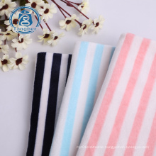 Super Soft Stripe Print Polyester Stretch Velvet Fabric