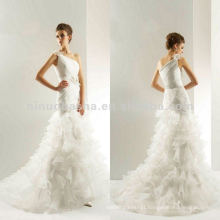 NY-2016 LUX ORGANZA and COUTURE SATIN Accessory Flower Wedding Dress