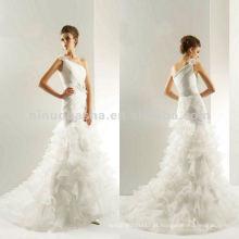 NY-2016 LUX ORGANZA e COUTURE SATIN Vestido de casamento acessório flor