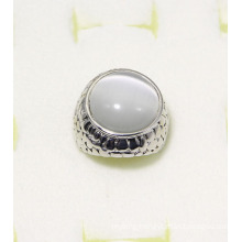 Fashion Jewelry Ring with White Color Cat-Eye Stone
