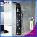 Fyeer de alta calidad masaje lluvia panel de ducha negro de acero inoxidable