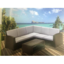 L Shape Outdoor Plastic Sofa Set