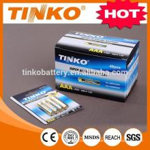 bateria seca tamanho AAA LR03 Alcalina bateria Super