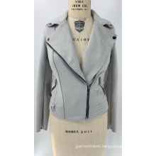 Women's Grey Faux Suede Jacket