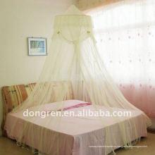 Купол Элегантная кружевная кровать сетчатого навеса Москитная сетка Новая [желтая