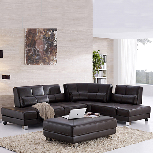 Leather Sectional Sofa Set
