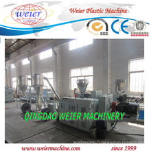 Chaîne de production de pelletisation de coupe chaude de PVC avec la double boudineuse à vis conique