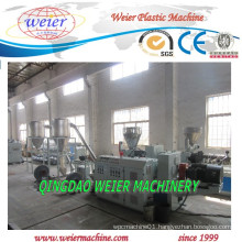 PVC Hot Cutting Pelletizing Production Line with Conical Double Screw Extruder