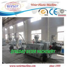 Linha de produção quente da peletização do corte do PVC com a extrusora de parafuso dobro cônica