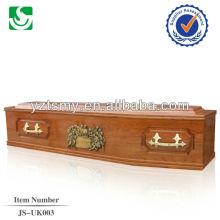 alto qulity estilo europeo madera exportada ataúd de artesania