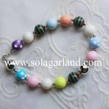 50CM Length Baby Girl Infant Toddler's Chunky Bubblegum Necklace
