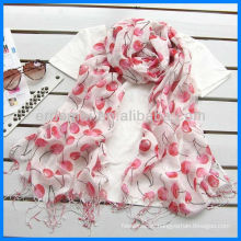 Fashion linen fruit screen printing scarf