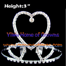 All Clear Crystal Heart Shaped Crowns and Tiaras