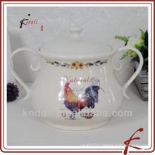 China Factory Wholesale Porcelain Ceramic Soup Pot Bowl Tureen