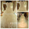 Back Lace Up Strapped Cake Wedding Dress Ball Gown Luxury Wedding Dress