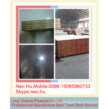 Linyi black waterproof material film faced plywood