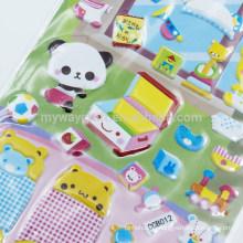 Серия Self Adhesive Kids 'Cartoon Animal Room Decoration Glitter Puffy Sticker