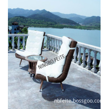 All Weather PE Rattan Beach Chairs Wicker Outdoor Furniture