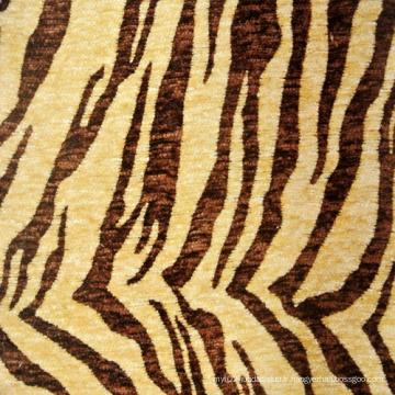 Fournisseurs de tissus de Chenille en microfibre imprimé pour animaux (fth31892)