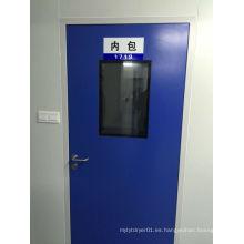 Puerta de purificación de habitación limpia