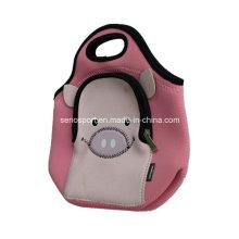 Animal Lovely Pig Design Neoprene Tote Bag (SNPB06)