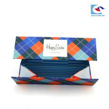 china rectangular rigid garment cardboard custom with your own logo
