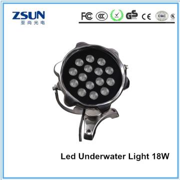Lumière sous-marine de la piscine DC12V / 24V 18W RVB LED de Chine fournisseur