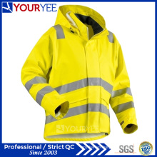 Heavy Weight Windbreaker Waterproof Reflective Hi Vis Rain Jacket (YFG114)